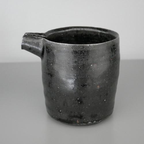 増田 勉|艶黒筒口筒片口 Tsutomu Masuda glossy black lipped cup