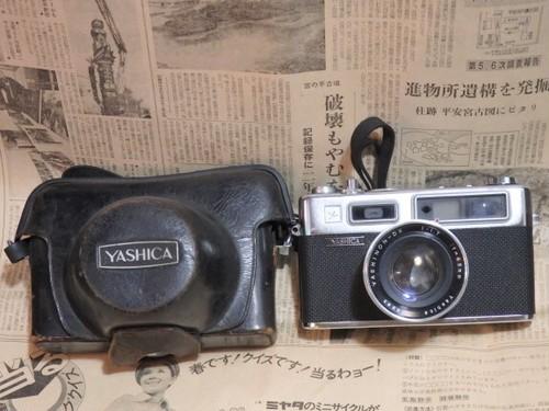フィルムカメラ YASHICA Electro 35(初代) ジャンクですが希少品! 革カバー付  シャッターOK ヤシカ