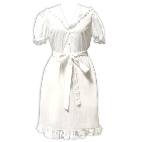 sailor cotton dress white