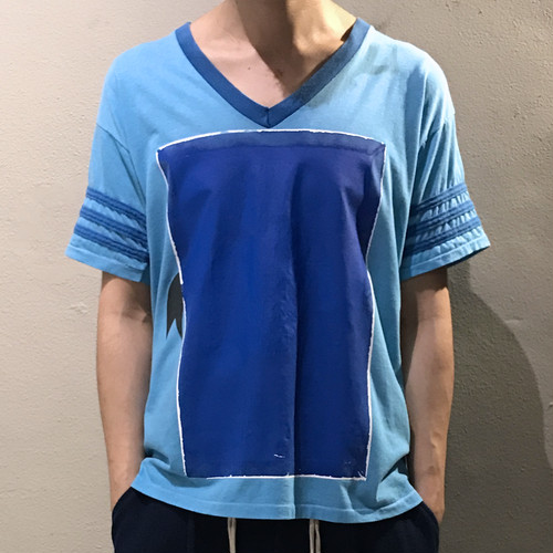 RE1029 : SQUARE  AGING PRINT TEE