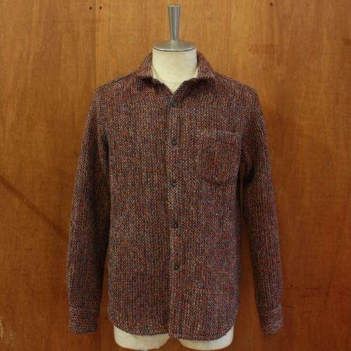 [Four Seasons Garage] ジャガード変わり織りシャツジャケット ベージュ系