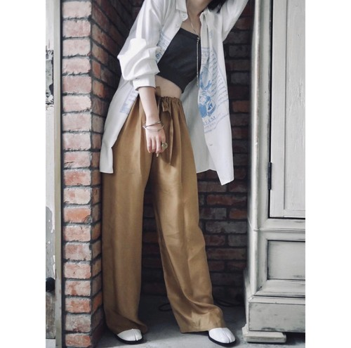 NOWOS / SILK EASY PANTS(BEIGE)