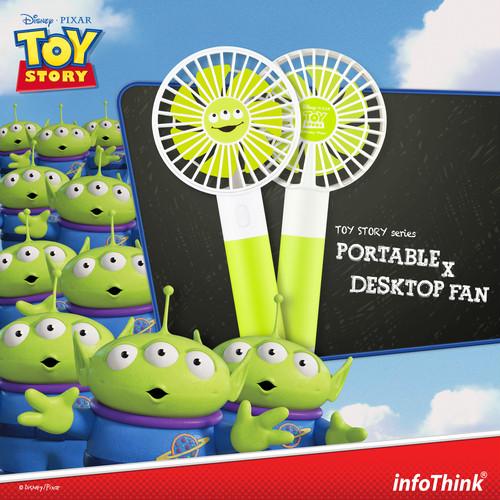 InfoThink ポータブル扇風機 Disney トイ・ストーリー4 USB充電 持ち運び 卓上扇風機 リトルグリーンメン