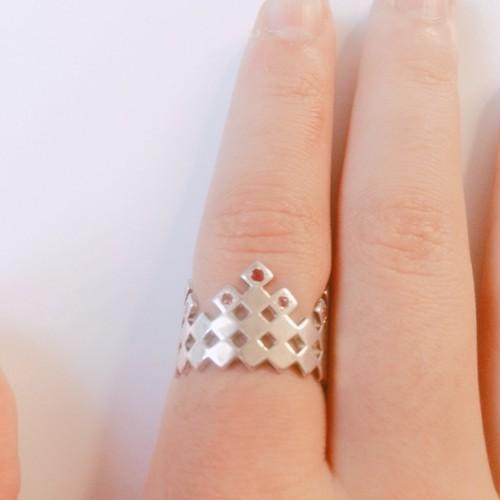 ハーレクインリング シルバー ピンクサファイア Harlequin ring SILVER with Ruby