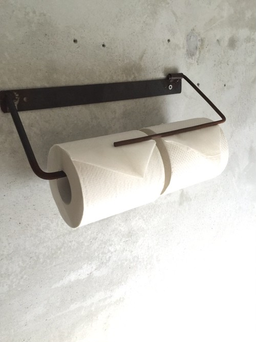 数量限定 I H- B2 ペーパーホルダー キッチンペーパー トイレットペーパー アイアン ビス付き 鉄製 アイアン家具