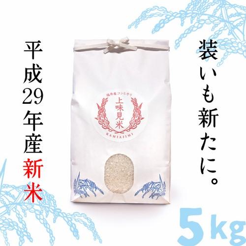 【H29年 福井県産コシヒカリ】上味見米(精白米)5kg