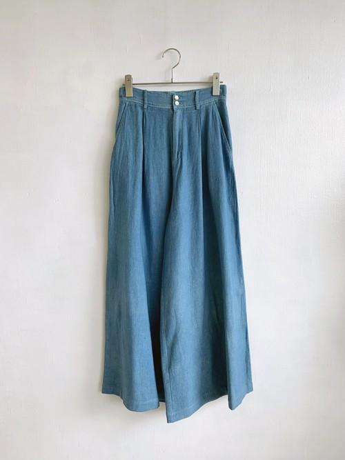 PASTEL d'Occitanie  Linen Cotton Dobby Wide Pants