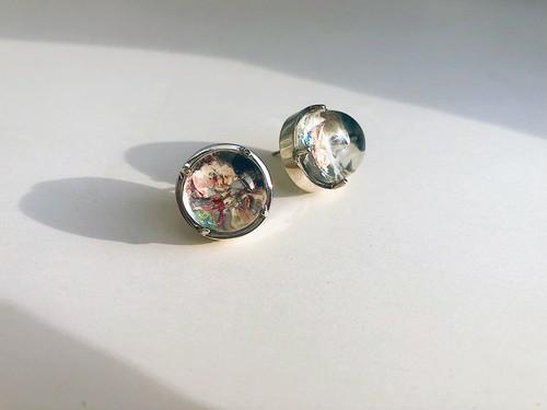 hemisphere pierce -marble- 両耳