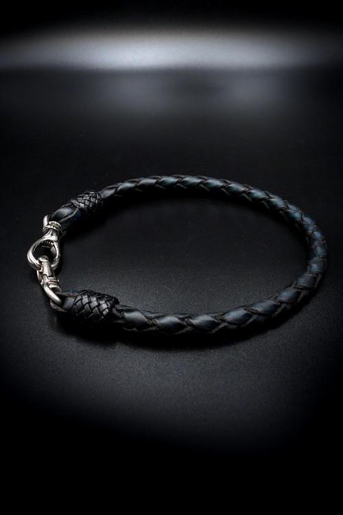 Item No.0353 :Wallet Rope/L/Hand dye  blue
