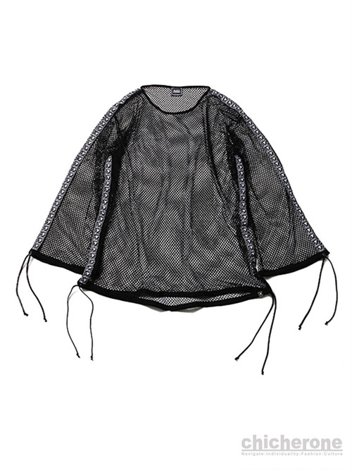 【SILLENT FROM ME】MIST -Wide Mesh Pullover- BLACK
