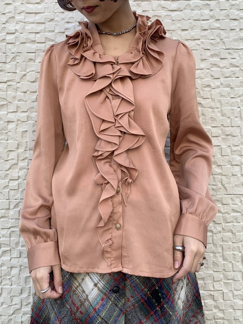 (TOYO) frill collar design l/s blouse