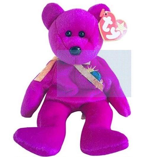 TY ビーニーベイビーズ クマ ぬいぐるみ Ty BEANIE BABIES 2000年モデル パープル