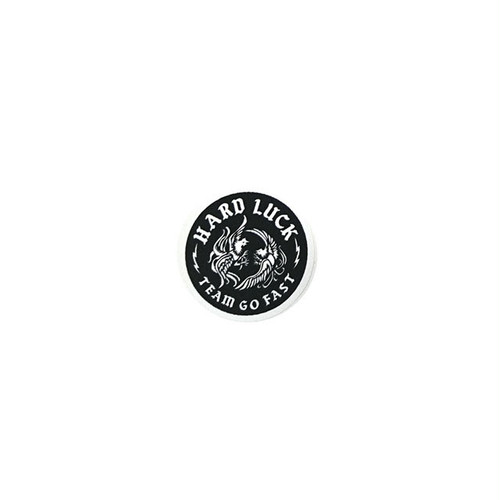 HARD LUCK - COCKY STICKER (Black) 38mm