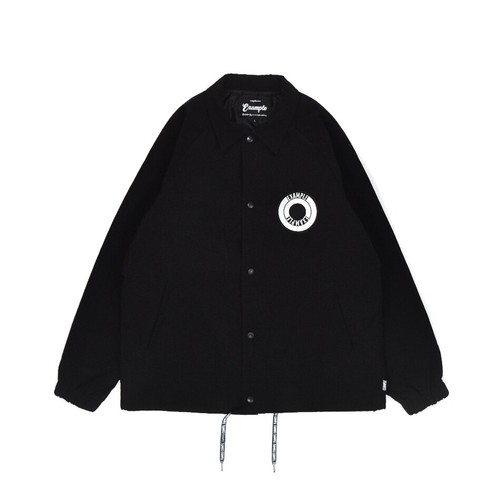 BACK ARCH LOGO NYLON JACKET / BLACK