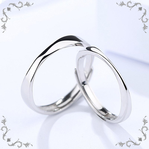 シルバー925 ペアリング フリーサイズ カップルリング 男女ペア指輪 #054