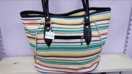 [SALE 50%OFF]ベトナムバッグ・ベトナム雑貨PhiPhi・ハンドメイドボーダートートバッグ