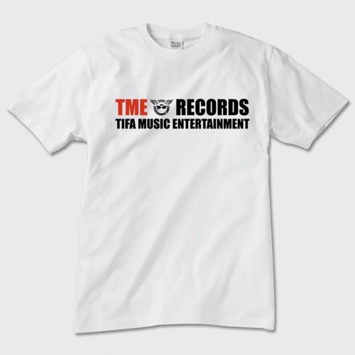 TME RECORDSロゴTシャツ(ホワイト)