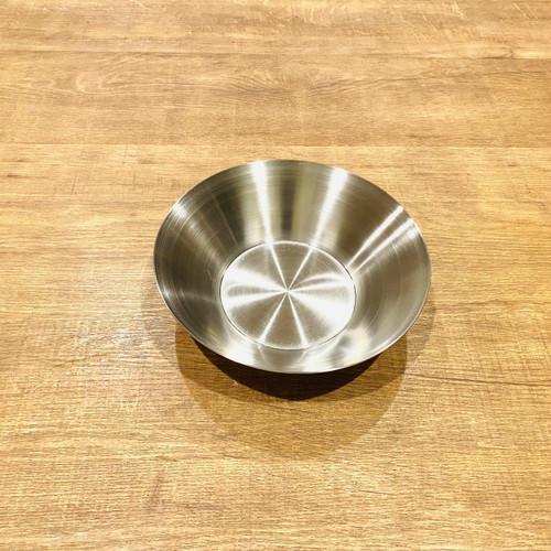 韓国ステンレス食器/お皿/(1号)【直径18.2㎝/高さ5㎝】