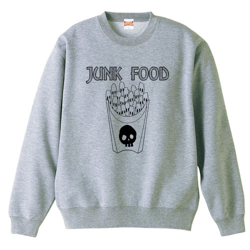 [スウェット] skull French fries / Gray