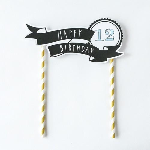 【誕生日パーティーに!】バースデーケーキトッパー <TENT>