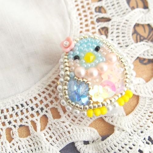 【7/15 21:00ー】小さな青い鳥ちゃんのブローチ