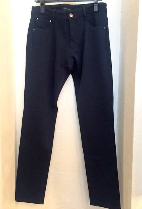 Fleece Stretch Tapered Pants Navy