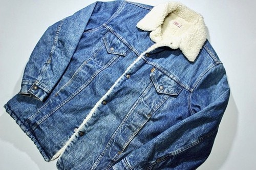 1970s Levis71605 Denim Boa Jacket!!‬