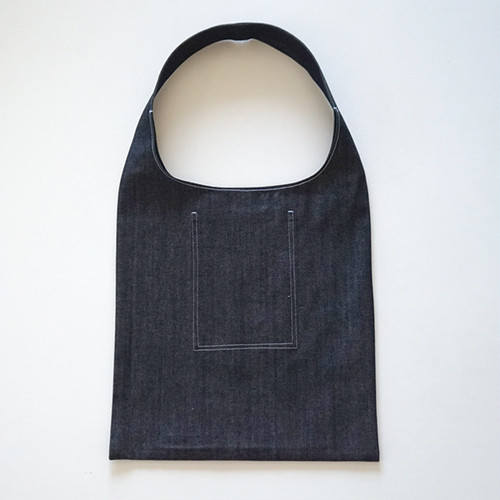 eco bag - 厚手デニム