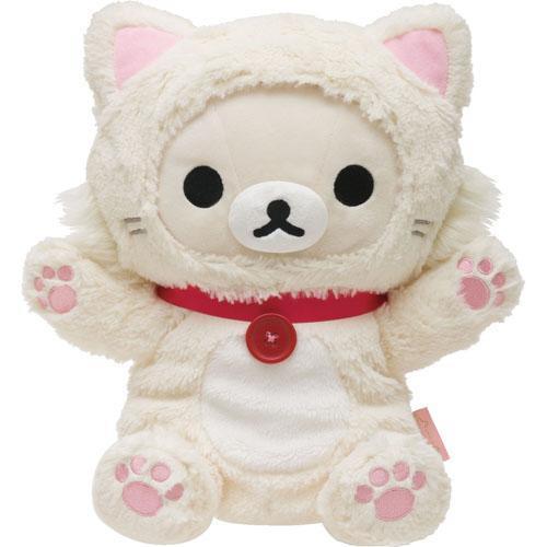 【リラックマ】コリラックマ  ぬいぐるみパペット 【もっと♪のんびりネコ】