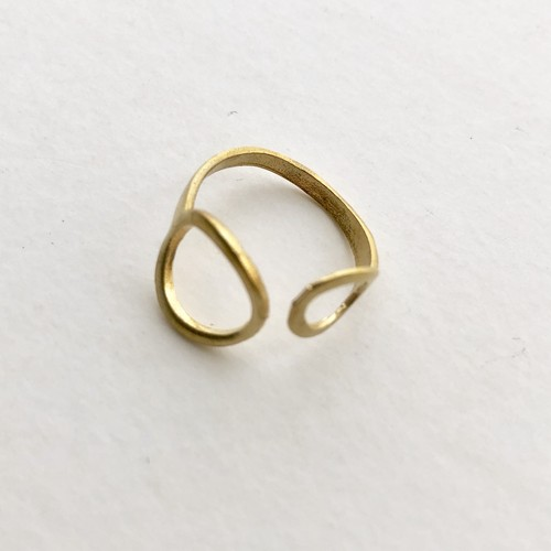Raw brass Rings -  Circlesリング  RG-020