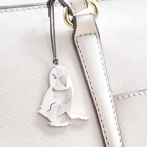【オーダーアクセ事例】真鍮ペットチャーム プラチナコーティング