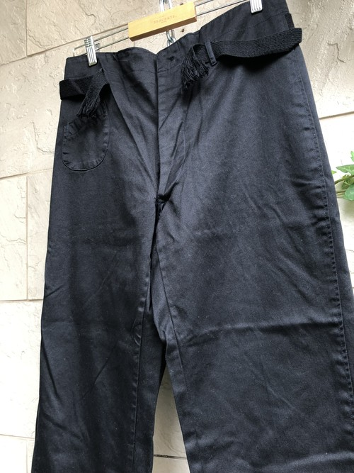 1960s〜 Japanese railroad trousers overdyed black color
