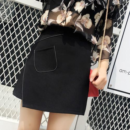 【ボトムス】特別なデザインレトロハイウエストAラインレディーススカート22908231