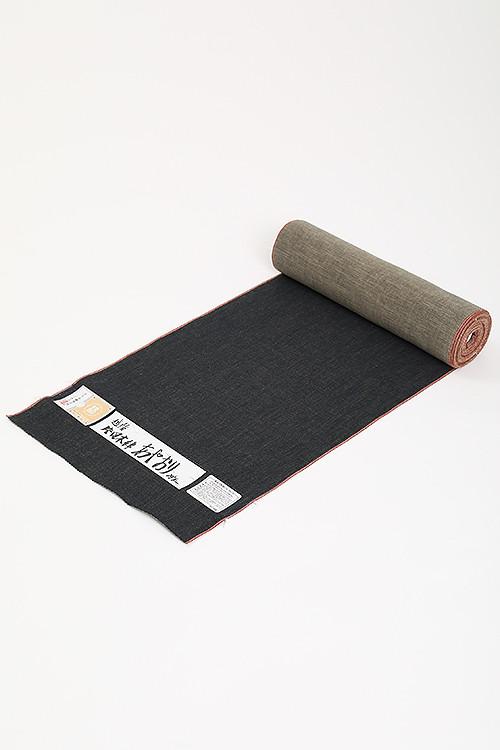 羽織 / 片貝木綿 / あやおり / 無地 / Black×Beige(WIth tailoring)