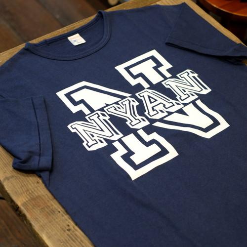 Workers(ワーカーズ) NYAN 半袖Tシャツ ネイビー