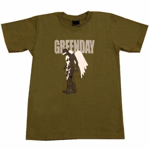 グリーン・デイ Green Day 天使イラスト プリントTシャツ