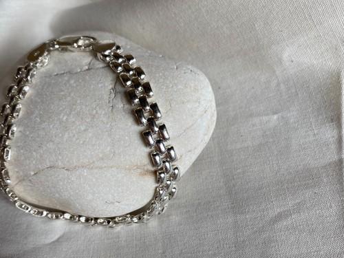 〈vintage silver925〉wide design bracelet②