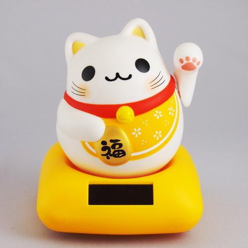 まるまる幸せ招き猫 (黄)