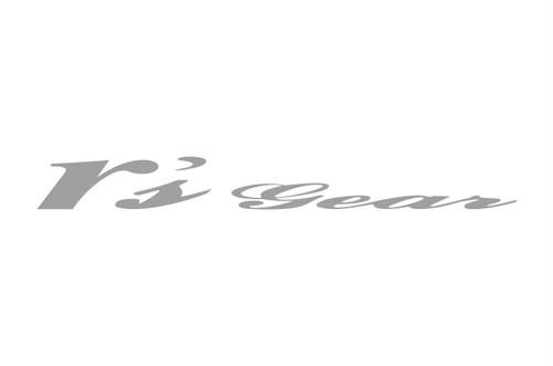 アールズ・ギア ステッカー W:50mm×H:5.5mm(ミニロゴ 2P) シルバー[XXSC-0010]