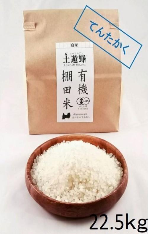 《令和2年産》有機棚田米てんたかく 白米 22.5㎏(玄米24㎏分)