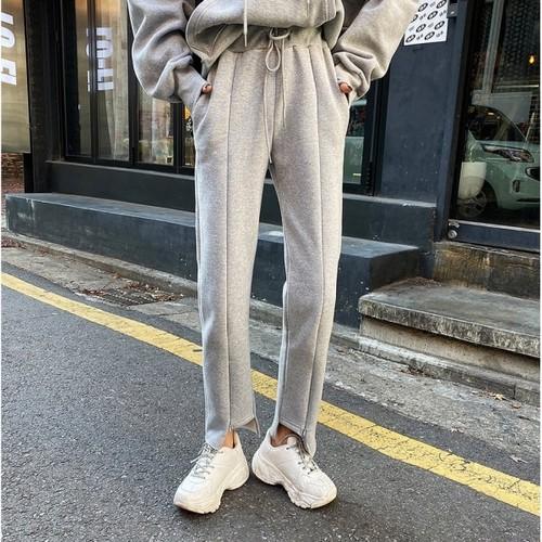 ジッパースリットスウェットパンツ スウェットパンツ 韓国ファッション