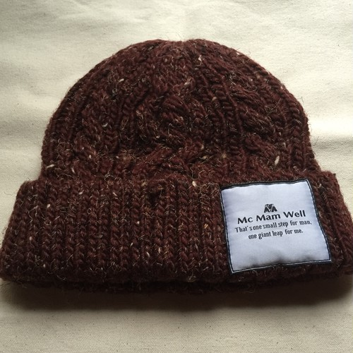 "McMamWell knit cap ""wine red"""