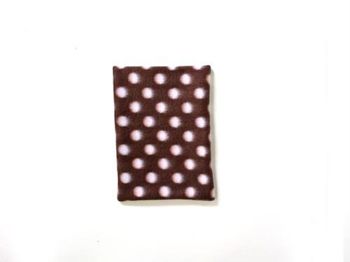 ハリちゃんのおざぶとん 水玉 チョコレート