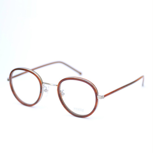 ayame:アヤメ 《FOCUS -フォーカス col.Wood》 眼鏡 ボストン