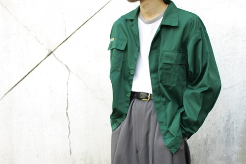 Polyester × Cotton Euro Work Jacket