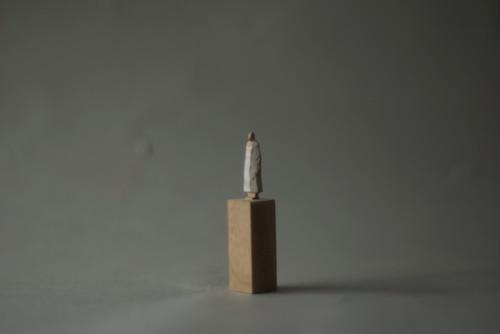 (076)wood figure-mini台付_045