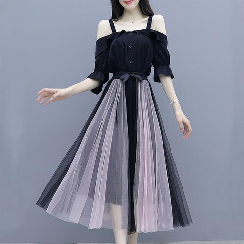 【set】セットアップオフショルダーシャツ切り替えチェールスカート