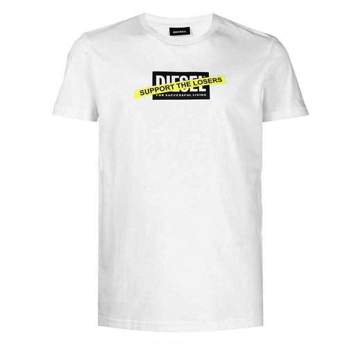 DIESEL ディーゼル T-DIEGOS-A3 A01769 グラフィックプリント 半袖Tシャツ WHITE 9229328 [並行輸入]