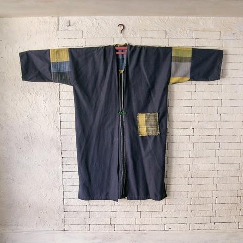 ボーイッシュ&アクティブ 絹100%紬と手織綿布のコート 20CT004