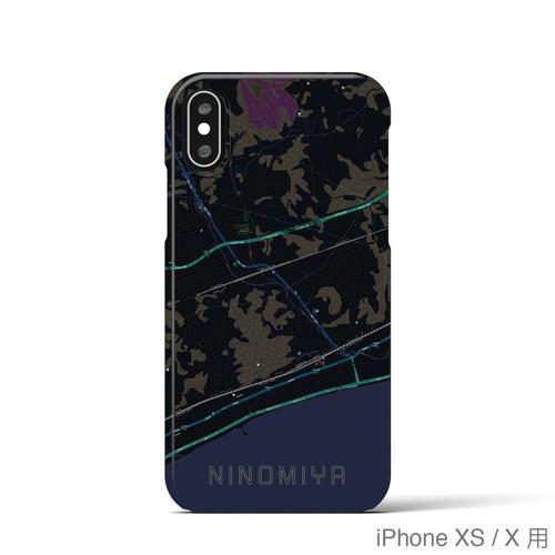 【二宮】地図柄iPhoneケース(ブラック)
